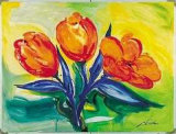 Orange Tulips Posters van Alfred Gockel