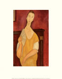 Woman with a Fan Prints by Amedeo Modigliani