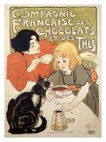 Compagnie Francaise des Chocolats et Thes Reproduction procédé giclée par Théophile Alexandre Steinlen