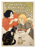 Compagnie Francaise des Chocolats et Thes Giclee Print by Th&#233;ophile Alexandre Steinlen