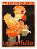 Jules Chéret - Folies Bergere, La Loie Fuller - Giclee Baskı
