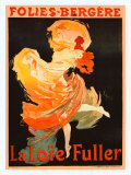 Folies Bergere, La Loie Fuller Giclee Print by Jules Ch&#233;ret