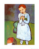 Child with a Dove, c.1901 Planscher av Pablo Picasso