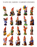 Garden Gnomes Print