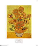 Vase with Fifteen Sunflowers, c.1888 Posters by Vincent van Gogh