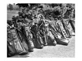 Golf Clubs at the Course Reproduction procédé giclée