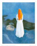 Young Girl on a Jetty Poster by Edvard Munch