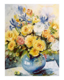 Yellow Roses Giclee Print by Ingrid Dohm