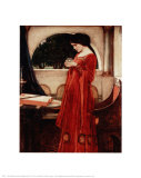 The Crystal Ball Print by John William Waterhouse