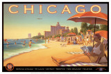 Chicago and Southern Air Art by Kerne Erickson