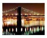 East River Bridges of New York City in Lower Manhattan. Reproduction procédé giclée par New Yorkled