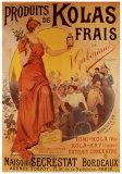Produits de Kolas Frais Poster by Louis Tauzin