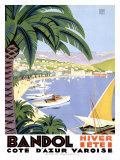 Bandol Giclee-trykk av Roger Broders