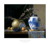 Vase de porcelaine bleue Posters par Joan Potter