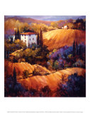 Evening Glow Tuscany Prints by Nancy O&#39;toole