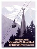 Funiculaire Chamonix-Planpraz Giclee Print