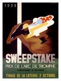 Sweepstake Reproduction procédé giclée par Adolphe Mouron Cassandre