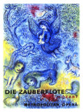 La flauta mgica de Mozart por Chagall Lmina gicle por Marc Chagall
