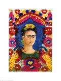 Le Cadre, ou portrait de l'artiste, 1937-1938 Affiches par Frida Kahlo