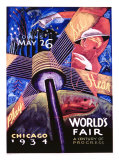 Chicago World&#39;s Fair, 1934 Giclee Print by Sandor 