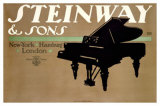 Steinway and Sons Giclee Print by Lucian Bernhard