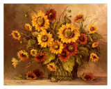 Sunflower Bouquet Posters by Barbara Mock