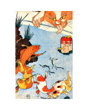 Goldfish and Cat Giclee Print
