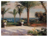 Vista de palmera Lámina por  Haibin