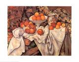 Pommes et oranges Affiches par Paul Cézanne