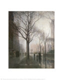 Plaza after the Rain Plakater af Paul Cornoyer