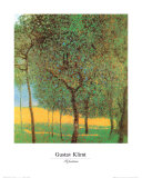 Orchard Prints by Gustav Klimt