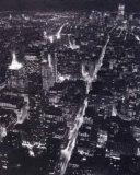 Blick auf Lower Manhattan bei Nacht Poster von Christopher Bliss