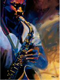 Bourbon Street Blues I Posters by Robert Brasher