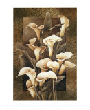 Golden Calla Lilies Prints by Linda Thompson