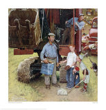Construction Crew Giclee Print by Norman Rockwell