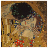 Kysset, ca. 1907 Plakater af Gustav Klimt