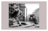 Frozen Fountain in Winter, Piccadilly Circus, 1956 Art