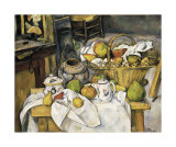 Still Life with Fruit Basket, 1880-1890 Prints by Paul Cézanne