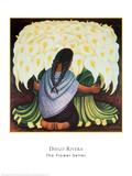 The Flower Seller, c.1942 Posters af Diego Rivera