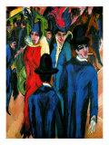 Street Scene in Berlin Giclee Print by Ernst Ludwig Kirchner