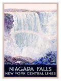 New York, Central Lines, Niagara Falls Giclee Print by Frederic Madan