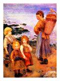 Mussel Fishers of Berneval Giclee Print by Pierre-Auguste Renoir