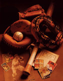 Baseball Print by Michael Harrison
