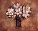 Antique Magnolia I Poster by Ruane Manning