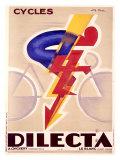 Dilecta Fahrräder Giclée-Druck von G. Favre