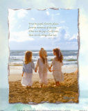 Three Girls on Beach Prints by Lisa Jane