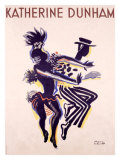 Katherine Dunham Giclee Print by Paul Colin