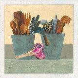 Dans la Cuisine, l'Ail Prints by Laurence David