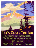 Let's Clear the Air Giclée-tryk