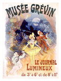 Musee Grevin, Le Journal Lumineux Giclee Print by Jules Chéret